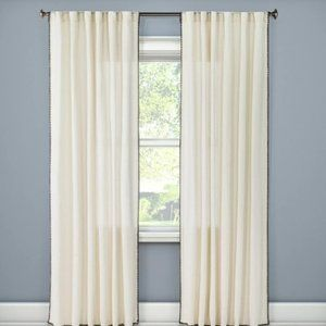Stitched Edge Curtain 1 Panel 54wx95L NEW